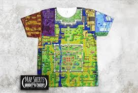 legend of zelda map with cheats zelda map t shirt all over print the legend of zelda the