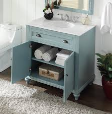 inch bathroom vanity louvered shutter doors style light blue color