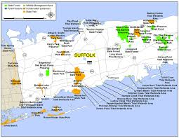 New York Counties Map Map Of Suffolk County New York New York Map
