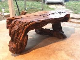 live edge osage orange bois d u0027 arc hedge table burl wood coffee