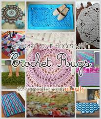 Crochet Flower Rug Refresh Your Floors With Crochet Rugs 10 Free Patterns