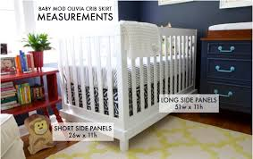 Crib Bed Skirt Measurements Diy Easy Adjustable Crib Skirt The Nesting