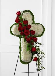fds flowers ftd floral cross easel in roswell ga hamilton flowers decor llc