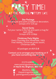 christmas parties u2014 the painting pottery cafe