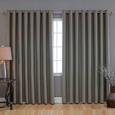 Curtain Patio Door Thermal Lined Patio Door Curtains Grey Hanging Curtain Rods