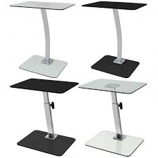 glass laptop table fixed portable or adjustable hartleys