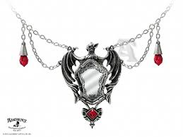 gothic jewelry necklace images Alchemy gothic drakuls bat mirror pendant necklace p660 49 00 jpg