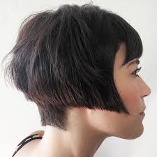 bobbed haircut with shingled npae 13704 best back view assym bobs images on pinterest short