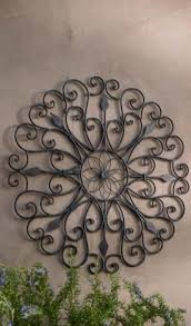 iron scroll wall foter