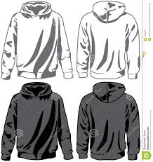 unisex hoodies vector stock vector image of template 12335972