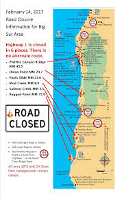 Pacific Coast Highway Map As A Matter Of Fact It Is All About Me Bad Winter For The Pch