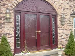 bathroom peru therma tru entry doors matched with brick wall plus