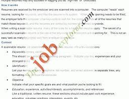 Scannable Resume Vibrant Idea E Resume 4 Electronic Resume Eresume Resume Example