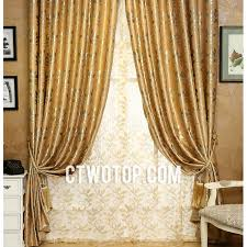 Leaf Pattern Curtains Gold And Silver Leaf Pattern Luxury Half Price Country Curtains