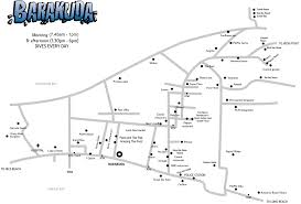 phi phi barakuda map of tonsai village koh phi phi thailand