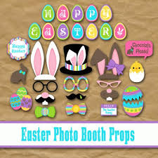easter photo props printable happy easter photo booth props and decorations
