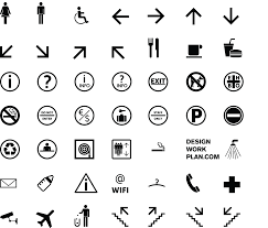 free tool symbol signs collection designworkplan wayfinding symbol signs