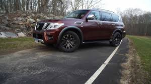 nissan armada 2017 platinum 2017 nissan armada handles like a boat with a very retro feel