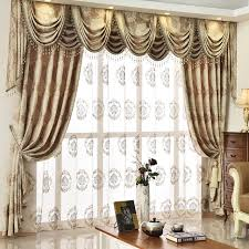 Buy Valance Curtains Aliexpress Com Buy European Golden Royal Luxury Curtains For