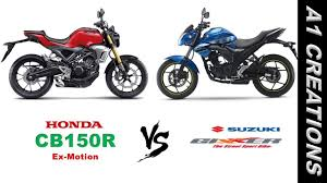 details of honda cbr 150r honda cb 150r ex motion vs suzuki gixxer 2017 youtube