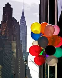 deliver balloons nyc chrysler building and colorful balloons nyc new york city
