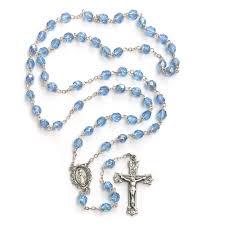 birthstone rosary bohemian glass birthstone rosary zircon december the