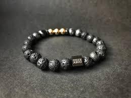 luxury bracelet box images Chuckaboo luxury beaded stone bracelet with gift box gentlemen 39 s jpg