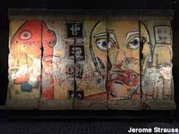 berlin wall sections new york ny five painted berlin wall slabs