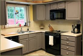 painted grey kitchen cabinets home decoration ideas