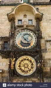 prague astronomical clock on the city hall prague czech republic