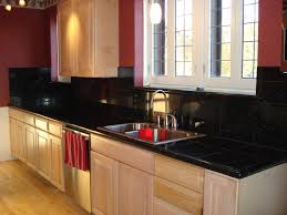 kitchen breathtaking black kitchen countertops with backsplash