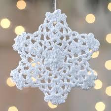 crocheted doily snowflake ornament ornaments