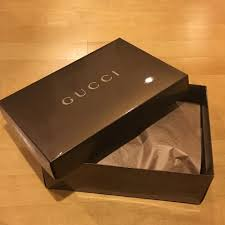 metallic gift box gucci metallic brown gift box tradesy