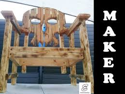 Patio Made Out Of Pallets by Lets Make A Skull Chair Maker Youtube