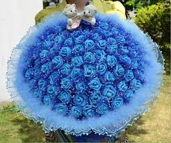 cheap bulk flowers d58 high quality made wedding bouquet 2 bears 99 roses lace