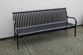 Commercial Grade Park Benches Steel Wood And Concrete Commercial Benches Nikls