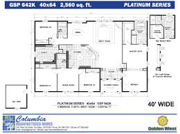 Free Modular Home Floor Plans Columbia Manufactured Homes Golden West Platinum Series Floorplans