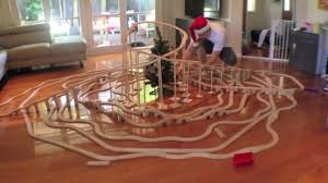 Build Wood Toy Train by Merry Christmas Train Set Fun Toy Train Track 16 Youtube