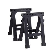 Home Depot Folding Hand Truck by Husky 23 In Folding Sawhorse 2 Pack 226863 The Home Depot