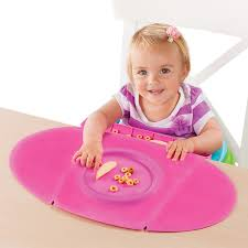 amazon com summer infant tiny diner 2 portable placemat pink baby