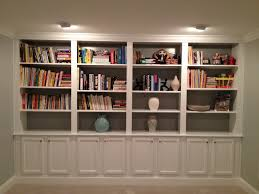 Built In Wall Shelves by Furniture White Hardwood Built In Bookshelves Which Paired With