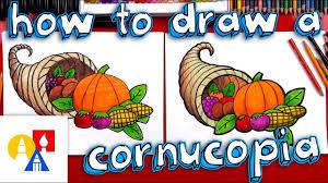 thanksgiving cornucopia clipart how to draw a cornucopia youtube