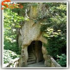 source customized plastic artificial fiberglass tree trunk