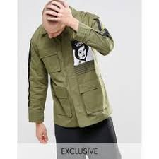 Green Parka Jacket Mens Asos Parka Jacket With Memory Fabric In Khaki 37 Liked On