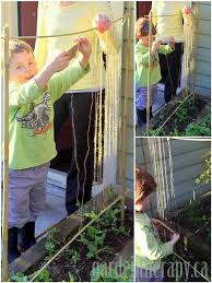How To Make Trellis For Peas Making A Pea Trellis With Kids