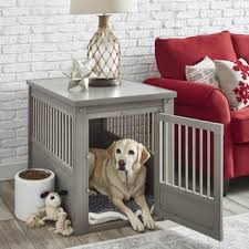 dog kennel side table ecoflex dog crate end table with stainless steel spindles free