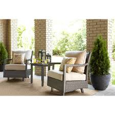 Allen Roth Patio Furniture Shop Allen Roth Set Of 2 Hayton Gray Aluminum Woven Seat Spring