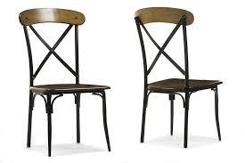 iron dining chair amazon com baxton studio broxburn light brown wood and metal