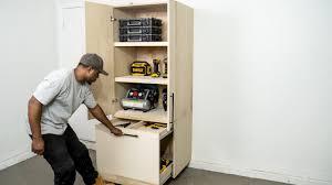 how to make storage cabinets diy garage cabinet storage organization diy creators