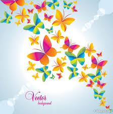 4 designer colorful butterfly background vector material 2